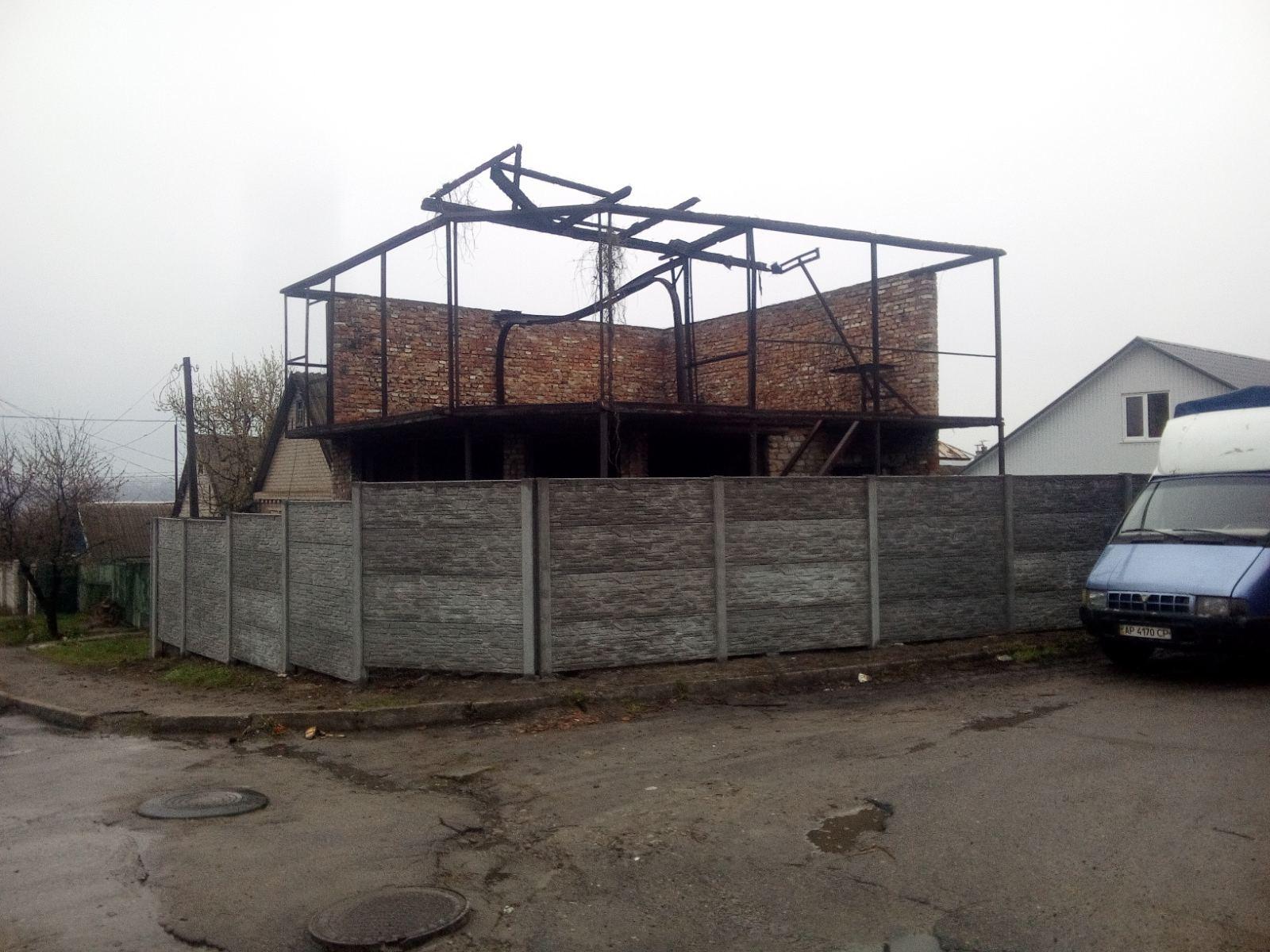 Установка бетонного забора г. Запорожье ул. Азовская 33