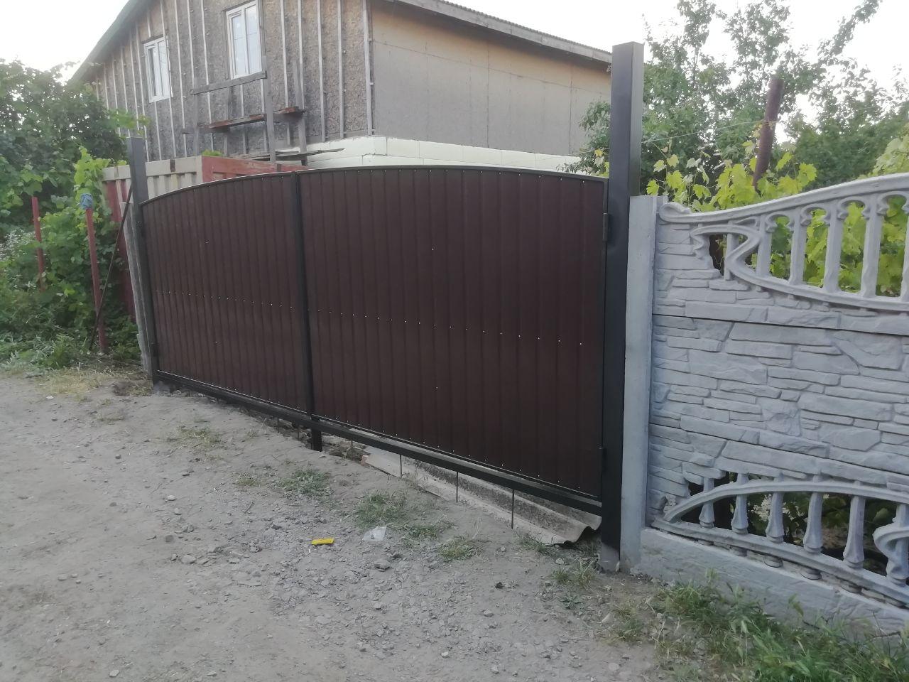 Установка ворот и калитки г. Запорожье, Дачи ул. Рязанской