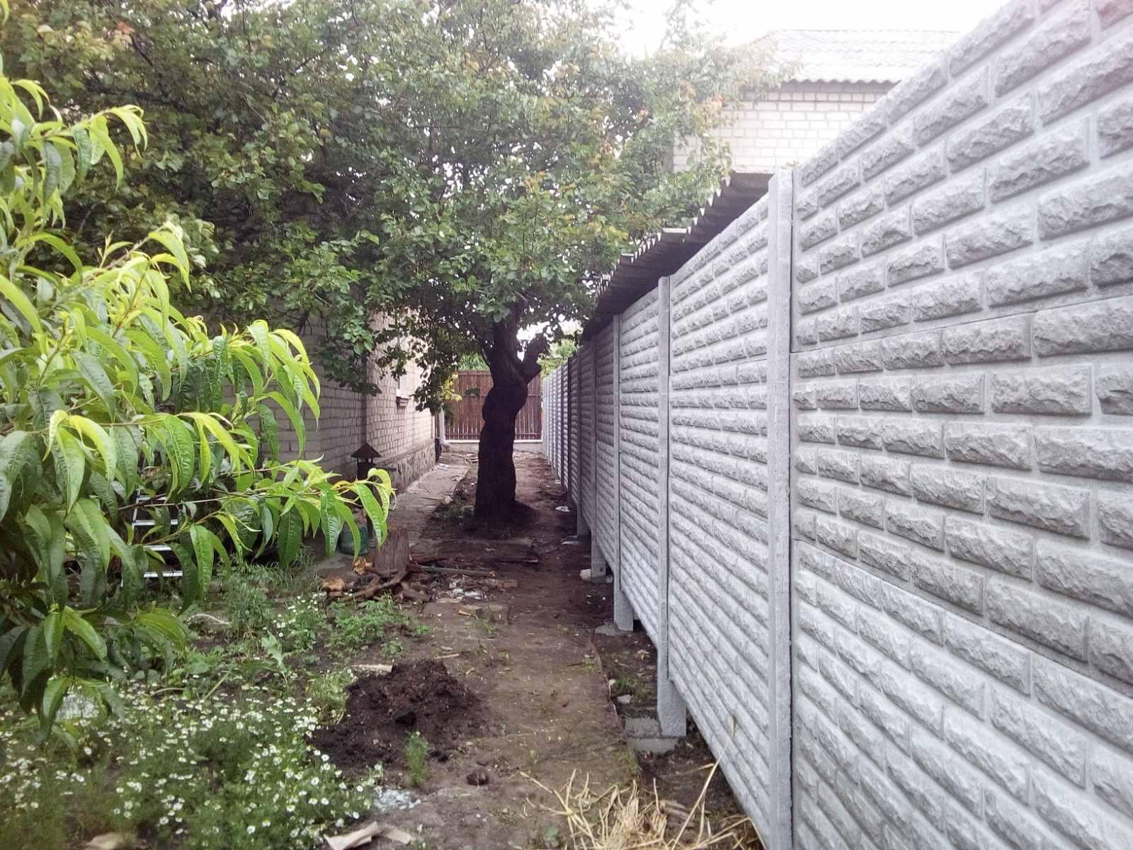 Установка бетонного забора г. Запорожье, пер Грузовой  8