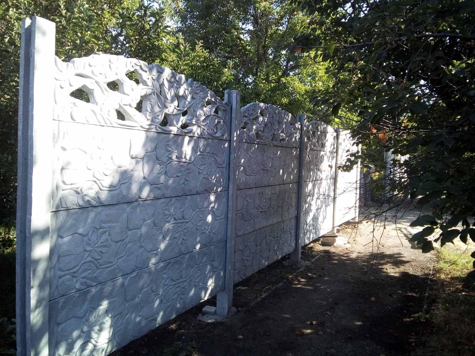 Установка бетонного забора с. Лукашева ул.Счастливая 28