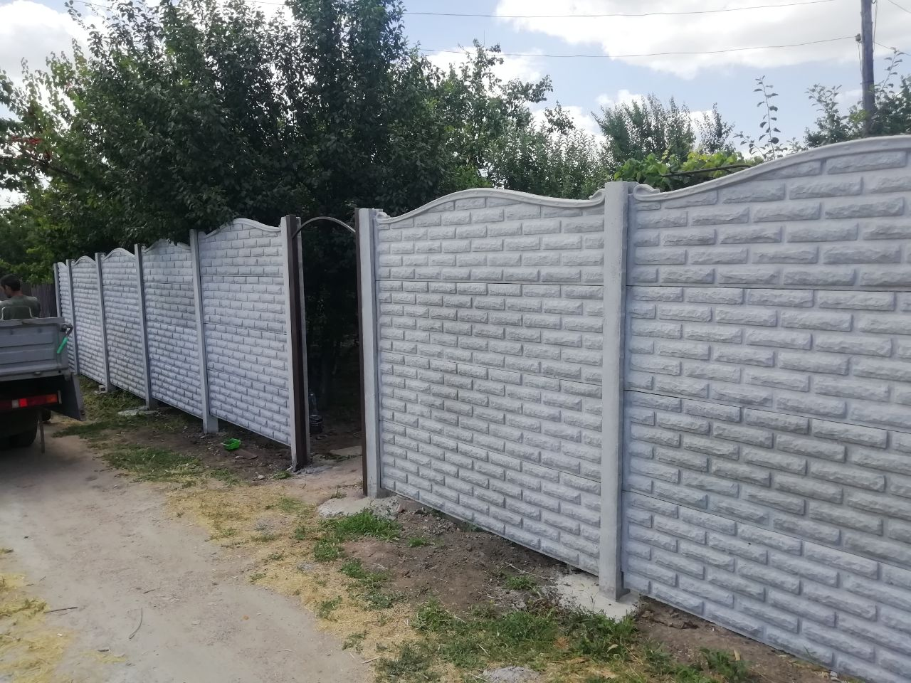 Установка бетонного забора г. Запорожье, дачи Леваневского по ул Базовой