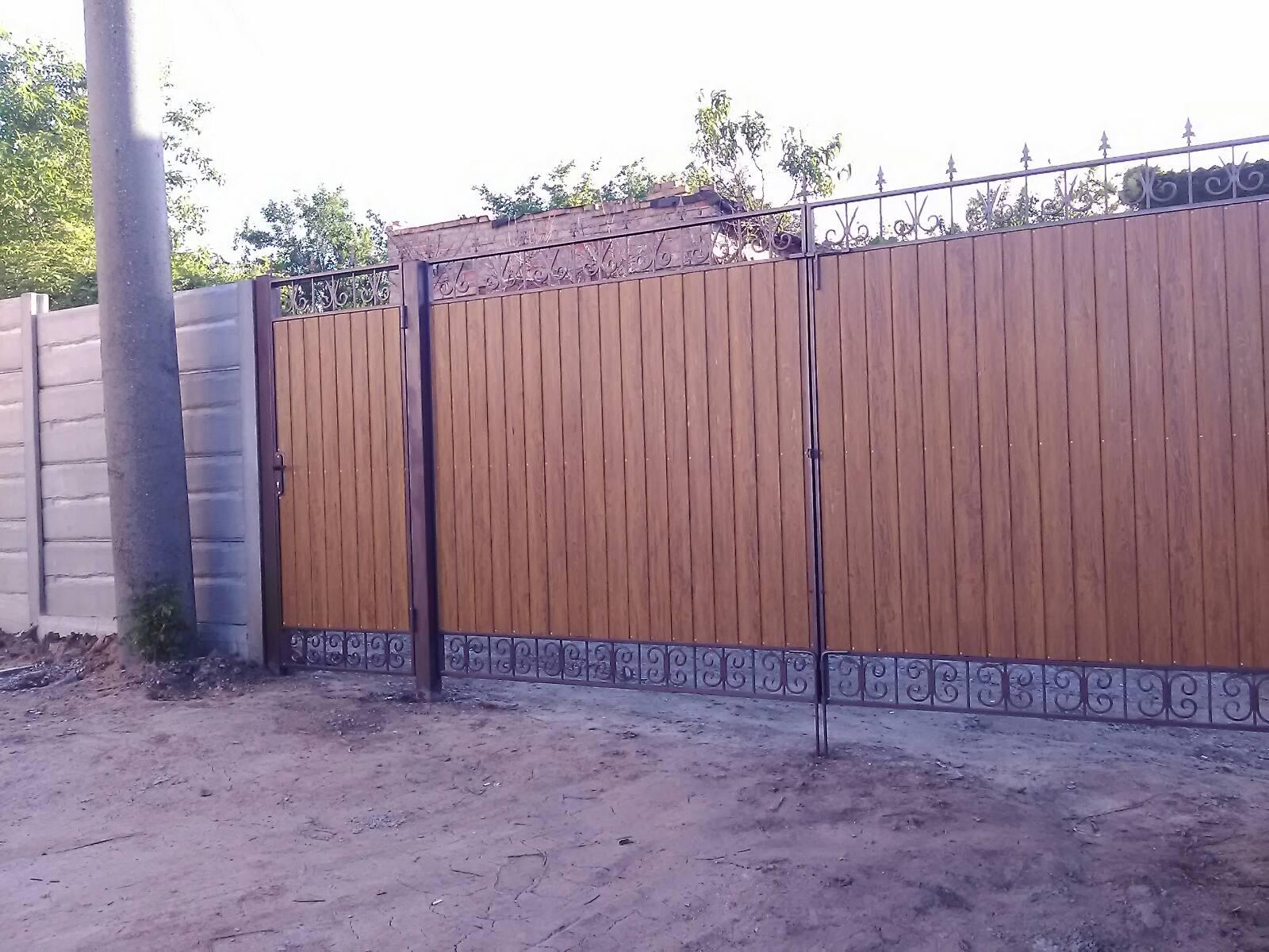 Установка бетонного забора и ворот с. Степное (Дачи)