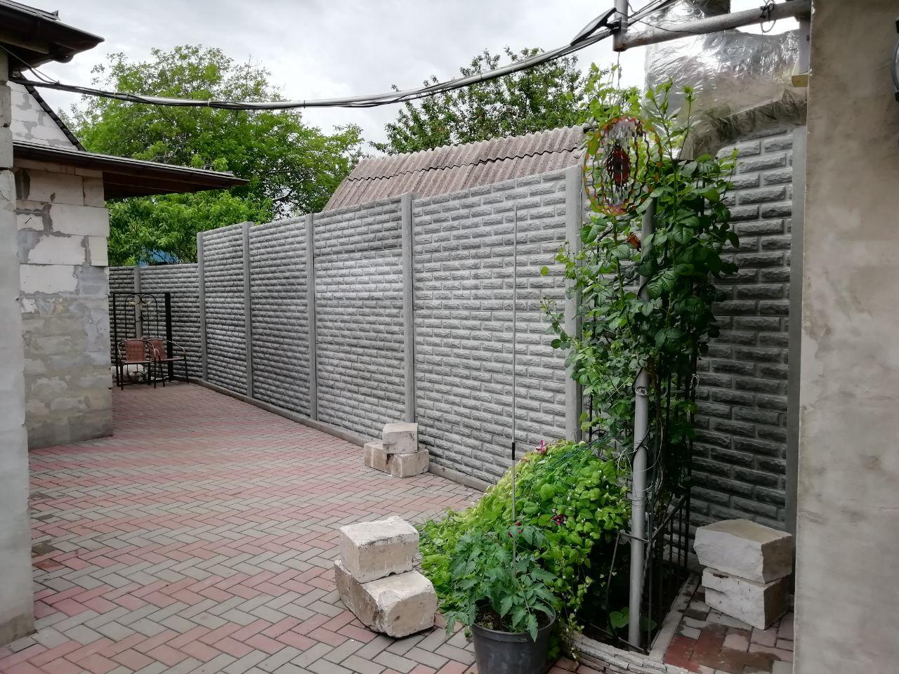 Установка бетонного забора г. Запорожье ул. Академическая д.67