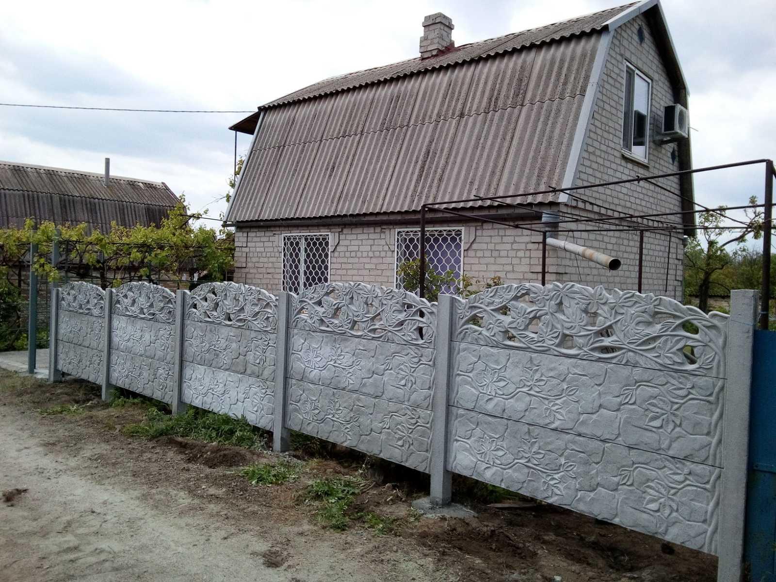 "Установка бетонного забора дачи Богатырева ""Беседка"""