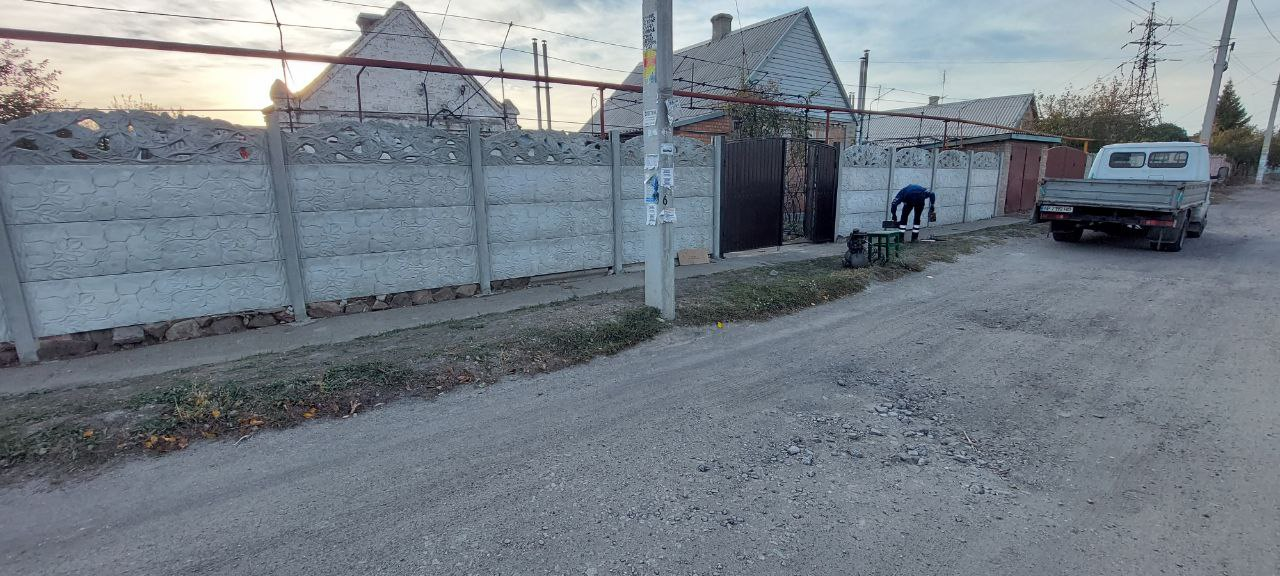Установка еврозабора г. Запорожья ул. Донская
