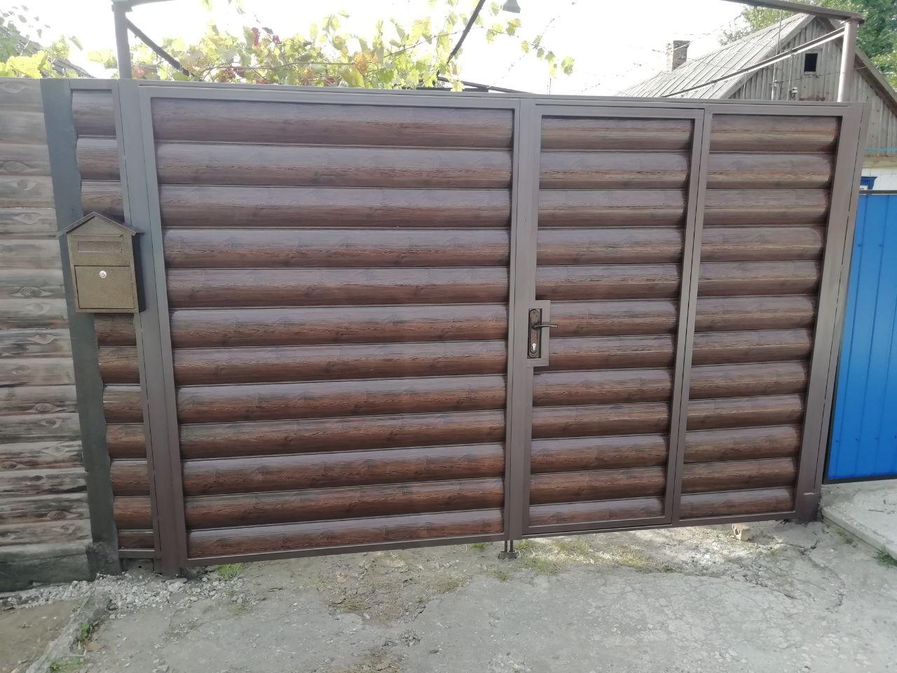 Установка бетонного забора с воротами с. Матвеевка ул. Садовая 14