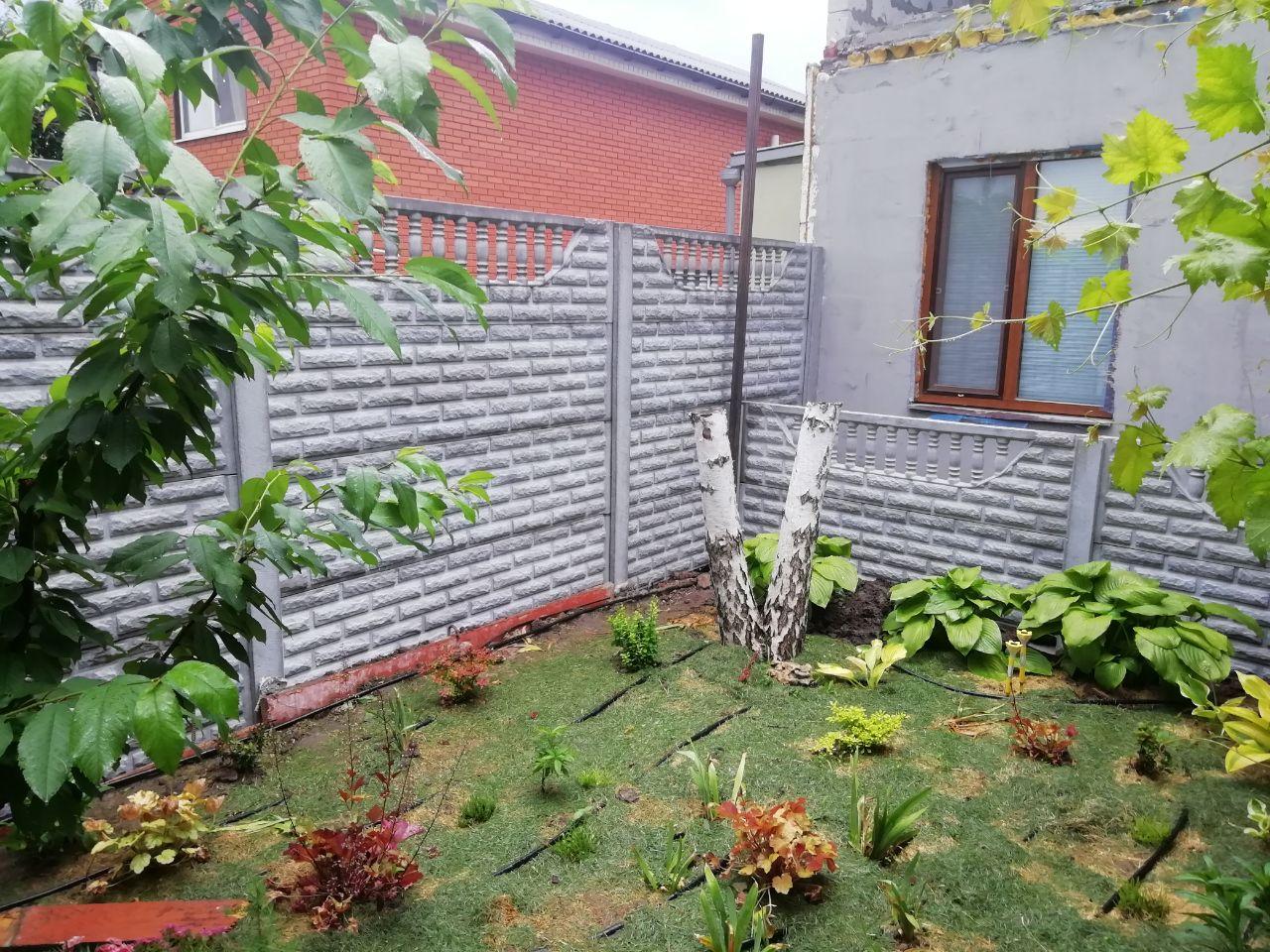 Установка бетонного забора г. Запорожье, ул. Аптечная 48