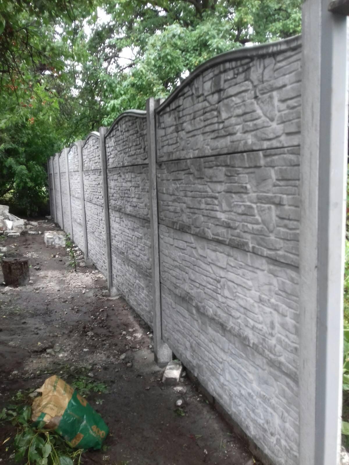 Установка бетонного забора г. Запорожье, ул.Чангарская 29