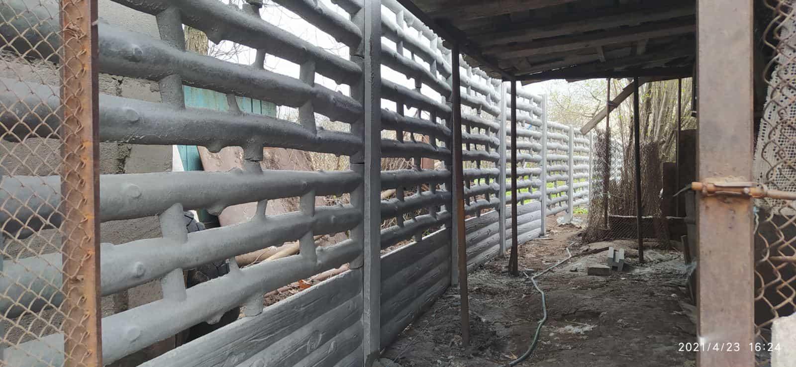 Установка бетонного забора г. Запорожье ул. Искры 21