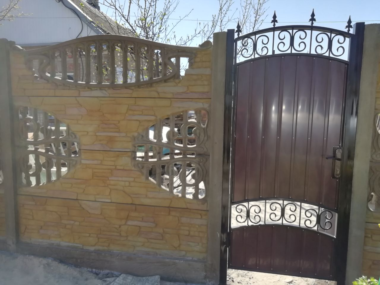 Установка забора  с калиткой г.Запорожье, ул.Летняя 50