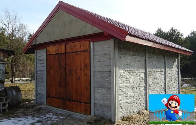 Сарай беседка гараж из бетонных плит