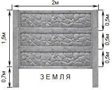 Столб для Еврозабора на три плиты.