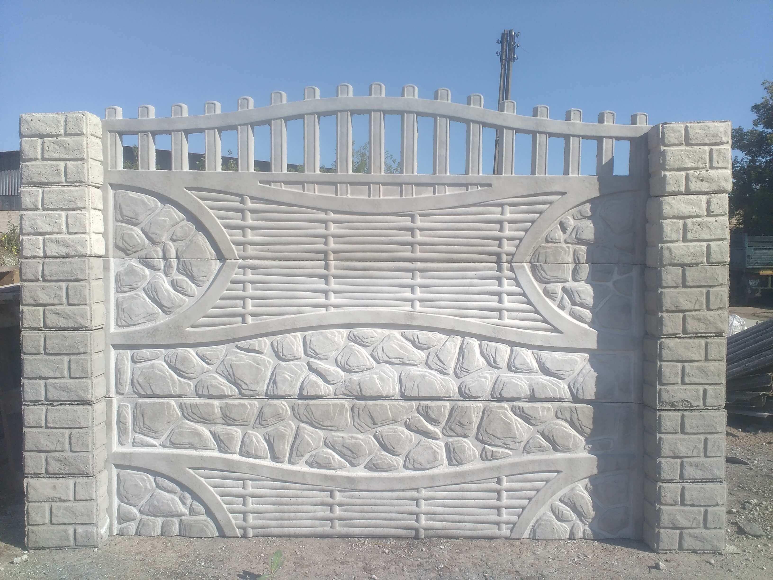 Еврозабор бут с плетенной лазой