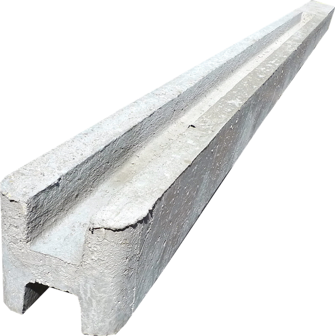 Столб для Еврозабора на четыри плиты.